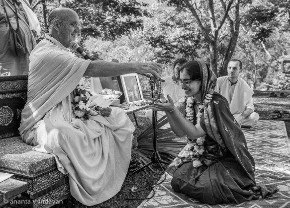 Receiving the name - Kaishori Sindhu Dasi!
